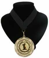 Landen lint nr 1 medaille zwart trend