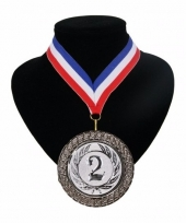 Landen lint nr 2 medaille rood wit blauw trend