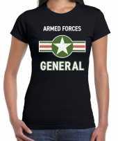 Landmacht armed forces verkleed t-shirt zwart voor dames trend