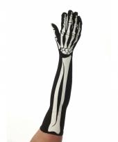 Lange horror skelet handschoenen trend