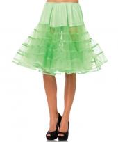 Lange neon groene 50s onderrok voor dames trend