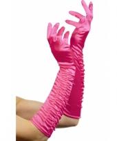 Lange party handschoenen roze trend