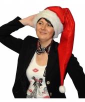 Lange rode kerstmuts voor volwassenen trend