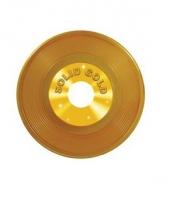 Langspeelplaat decoratie goud 48 cm trend