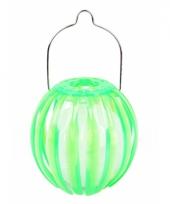 Lantaarn op zonne energie groen 11 cm trend