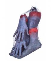 Latex zombie ledematen afgehakt trend