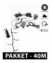 Led connect kerstverlichting pakket 40 m trend