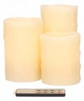 Led kaarsen creme 3 stuks trend