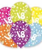 Leeftijd ballonnen 18 jaar 6 stuks trend