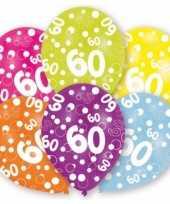 Leeftijd ballonnen 60 jaar 6 stuks trend