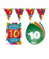 Leeftijd feestartikelen 10 jaar voordeel pakket trend