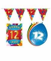 Leeftijd feestartikelen 12 jaar voordeel pakket trend