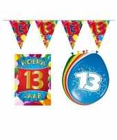 Leeftijd feestartikelen 13 jaar voordeel pakket trend