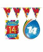 Leeftijd feestartikelen 14 jaar voordeel pakket trend