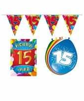 Leeftijd feestartikelen 15 jaar voordeel pakket trend