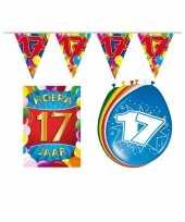 Leeftijd feestartikelen 17 jaar voordeel pakket trend