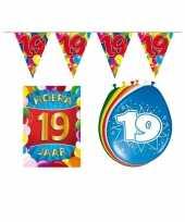 Leeftijd feestartikelen 19 jaar voordeel pakket trend