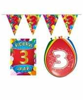 Leeftijd feestartikelen 3 jaar voordeel pakket trend