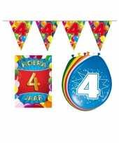 Leeftijd feestartikelen 4 jaar voordeel pakket trend