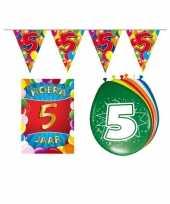 Leeftijd feestartikelen 5 jaar voordeel pakket trend