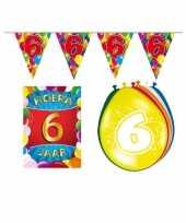 Leeftijd feestartikelen 6 jaar voordeel pakket trend