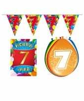 Leeftijd feestartikelen 7 jaar voordeel pakket trend