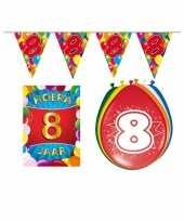 Leeftijd feestartikelen 8 jaar voordeel pakket trend
