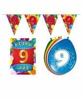 Leeftijd feestartikelen 9 jaar voordeel pakket trend