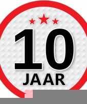 Leeftijd versiering sticker 10 jaar trend