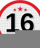 Leeftijd versiering sticker 16 jaar trend
