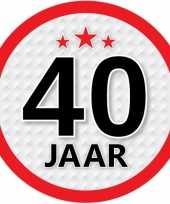 Leeftijd versiering sticker 40 jaar trend