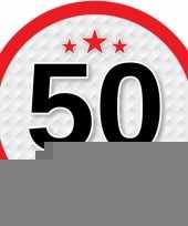 Leeftijd versiering sticker 50 jaar trend