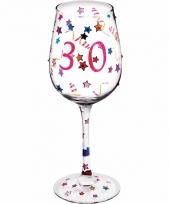 Leeftijd wijnglas 30 jaar 22 cm trend
