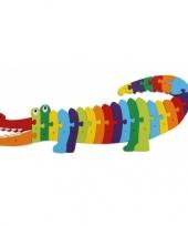 Leerpuzzel alfabet krokodil trend