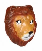 Leeuwen masker 3d plastic 22cm trend