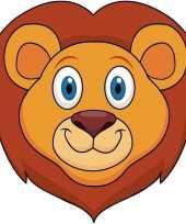Leeuwen maskers van karton trend