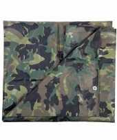 Leger thema feest camouflage afdekzeil groen 1 9 x 3 meter trend