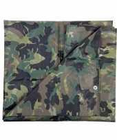 Leger thema feest camouflage afdekzeil groen 5 x 6 meter trend