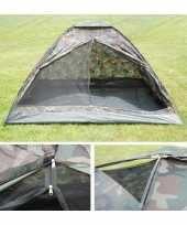 Legergroene camouflage tent voor 2 pers trend
