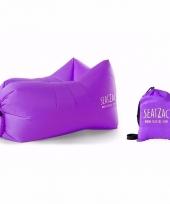 Lekker loungen met deze luchtstoel paars trend