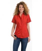 Lemon soda overhemd rood voor dames trend 10047106