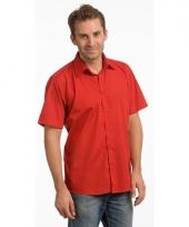 Lemon soda overhemd rood voor heren trend 10047026
