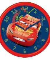 Leren klokkijken cars analoge klok 26 cm trend