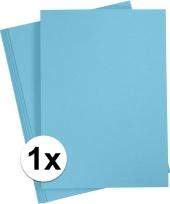 Lichtblauw knutselpapier a4 formaat trend 10105406