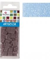 Lichtblauwe mozaiek steentjes 310 st trend