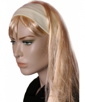 Lichtgele stretch haarband trend