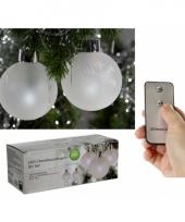 Lichtgevende kerstballen 3 stuks trend