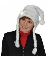 Lichtgevende witte kerstmuts trend