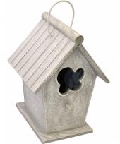 Lichtgrijs vintage huisje voor vogels trend