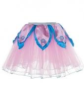 Lichtroze met blauw fee verkleed tutu voor meiden trend